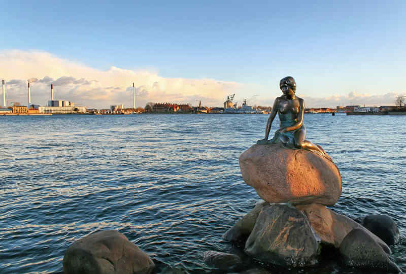 The Little Mermaid in Copenhagen