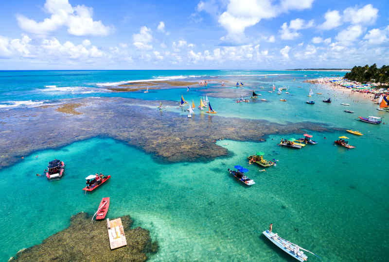 Porto das Galinhas Beaches in Brazil
