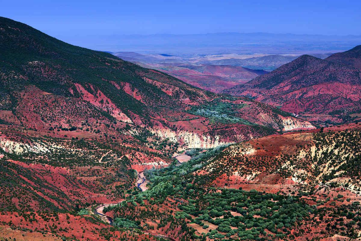 Фото горной дороги до маракеш от агадир