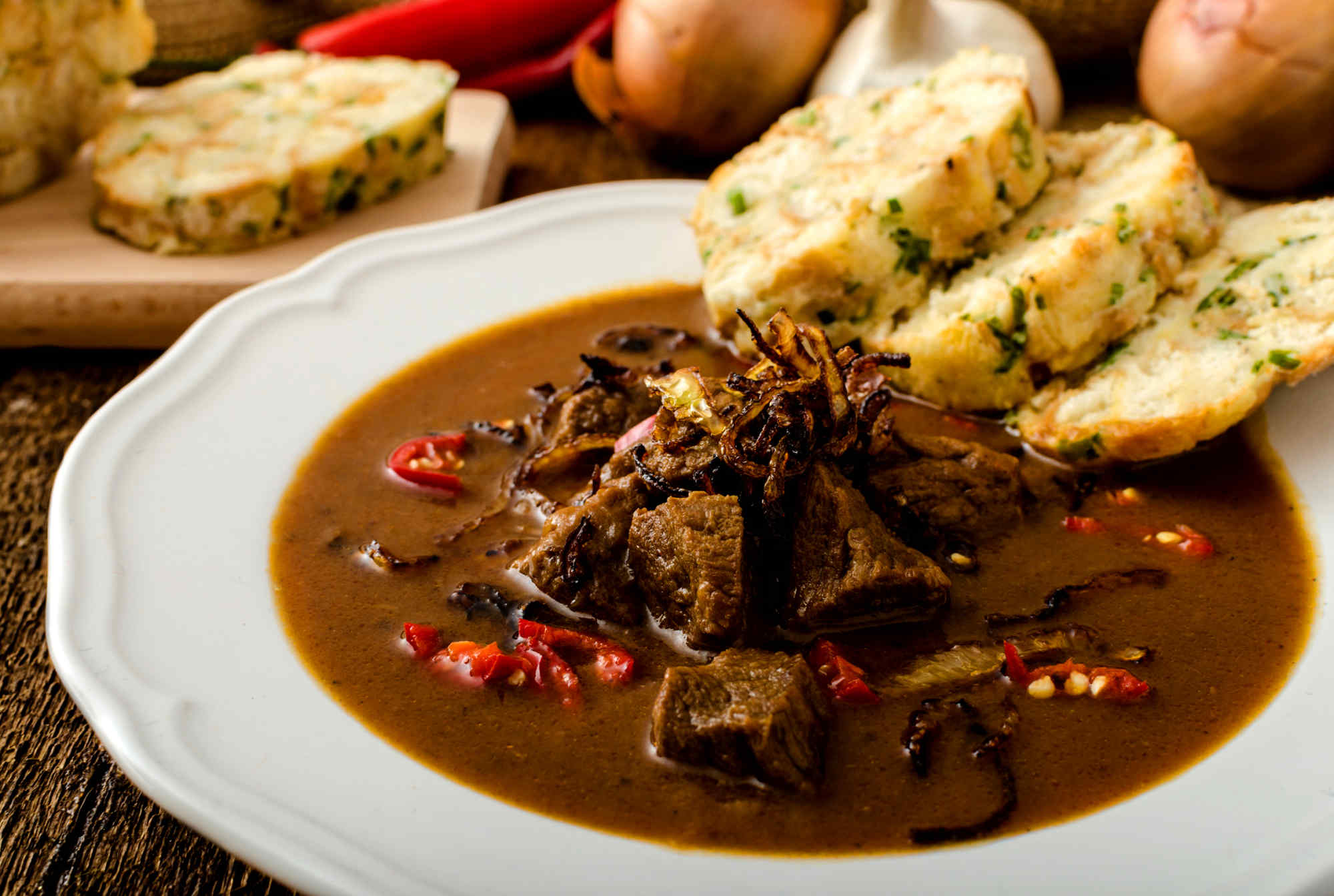 Czech Goulash with Dumplings