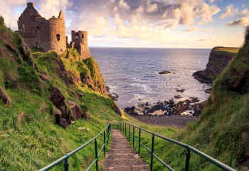 Dunluce Steps in County Antrim, Northern Ireland