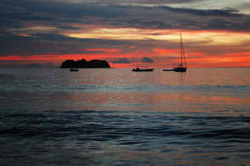 Sunset at Papagayo Gulf