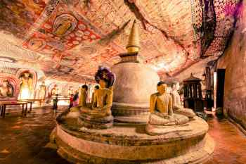 Cave Temple in Dambulla, Sri Lanka