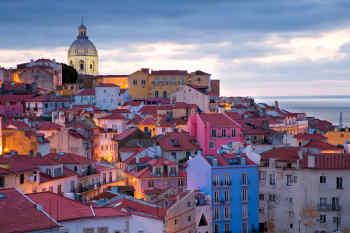 Alfama, the oldest district of Lisbon, Portugal