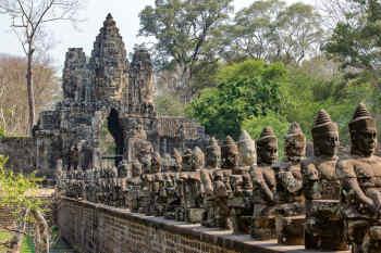 Deity Row, Angkor Thom, Cambodia