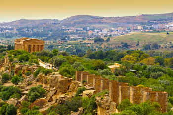 Valley of the Temples in Agrigento in Sicily, Italy