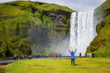 Iceland Beautiful waterfalls Vacation