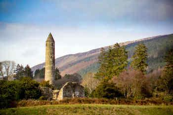 Round Tower in Glendalough