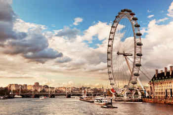 London Eye on the River Thames London, England