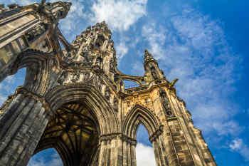 Scott Monument in Edinburgh Scotland