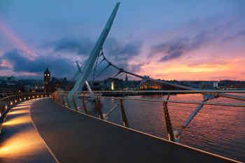 Peace Bridge in Derry, Northern Ireland