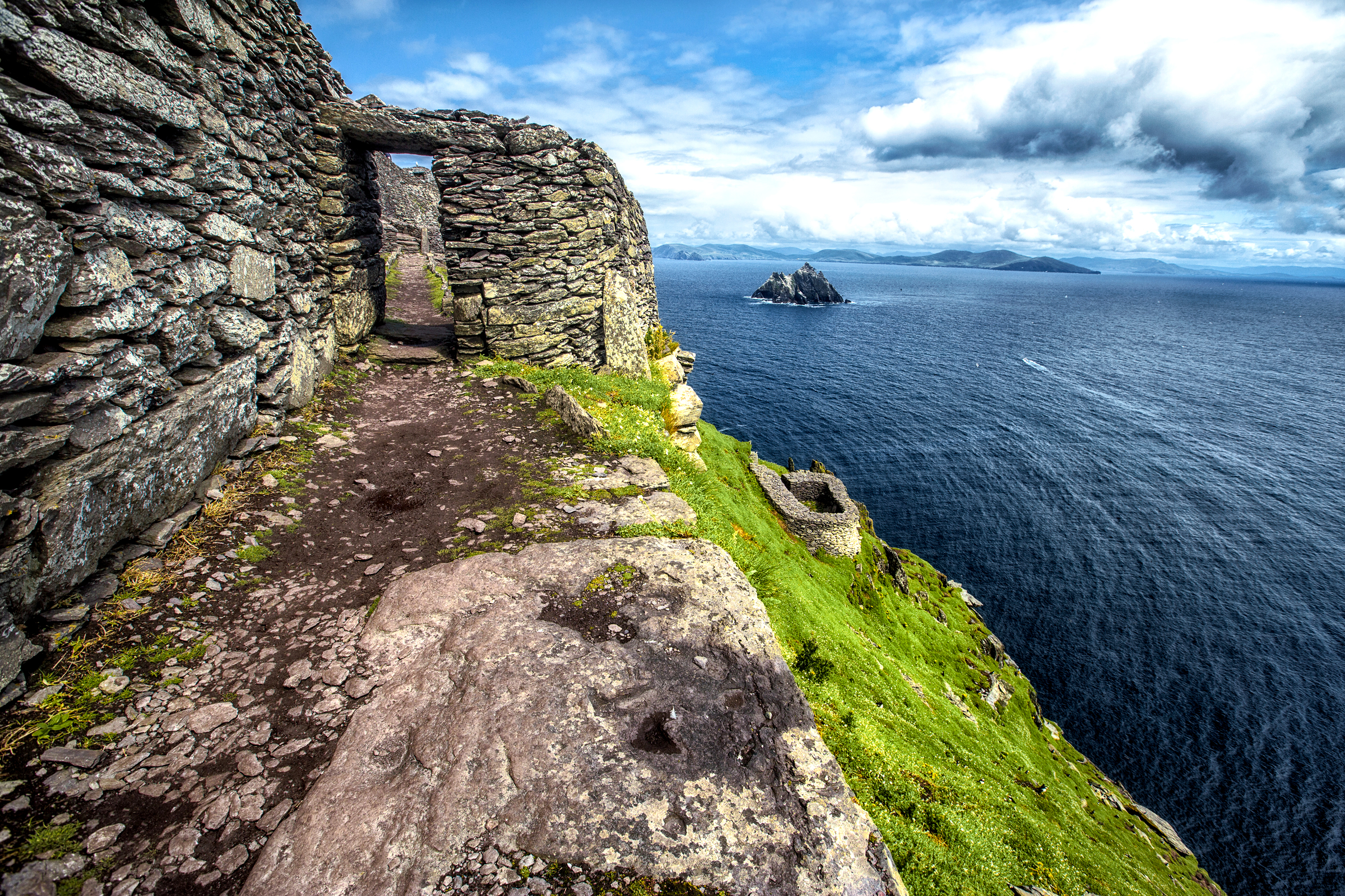 Skellig Michael in County Kerry, Ireland