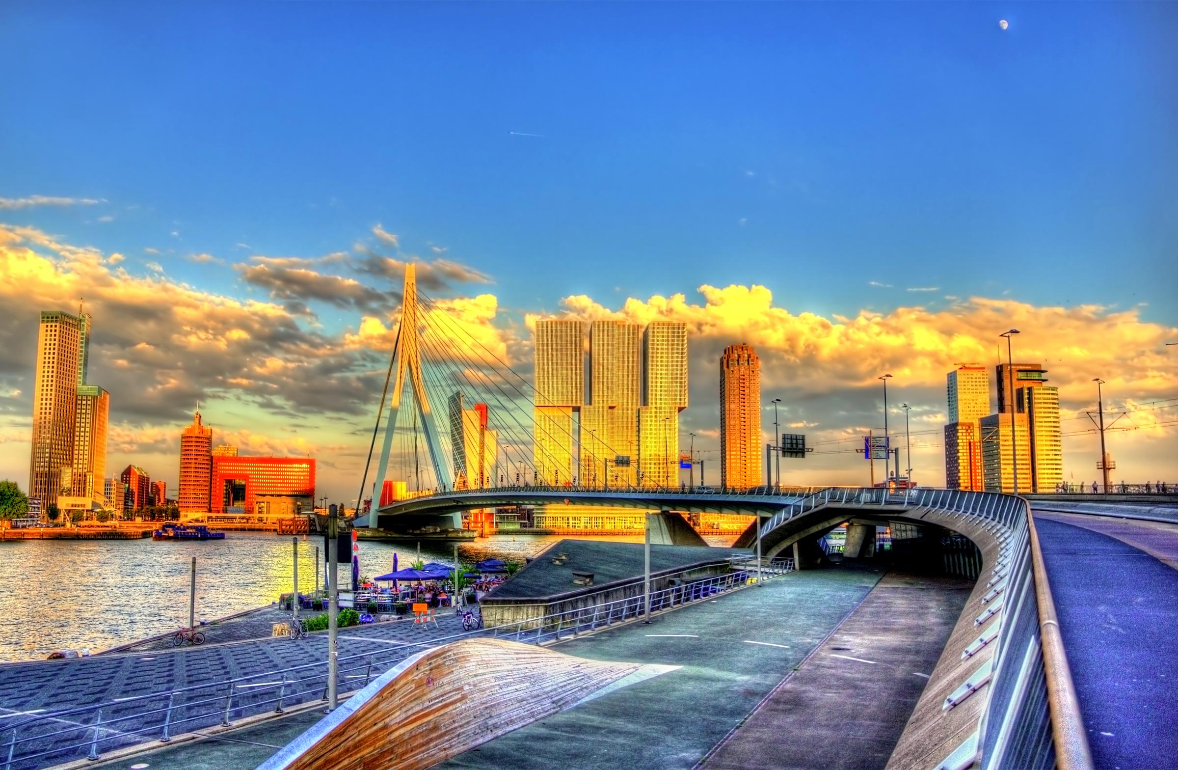 Erasmusbrug in Rotterdam, Netherlands