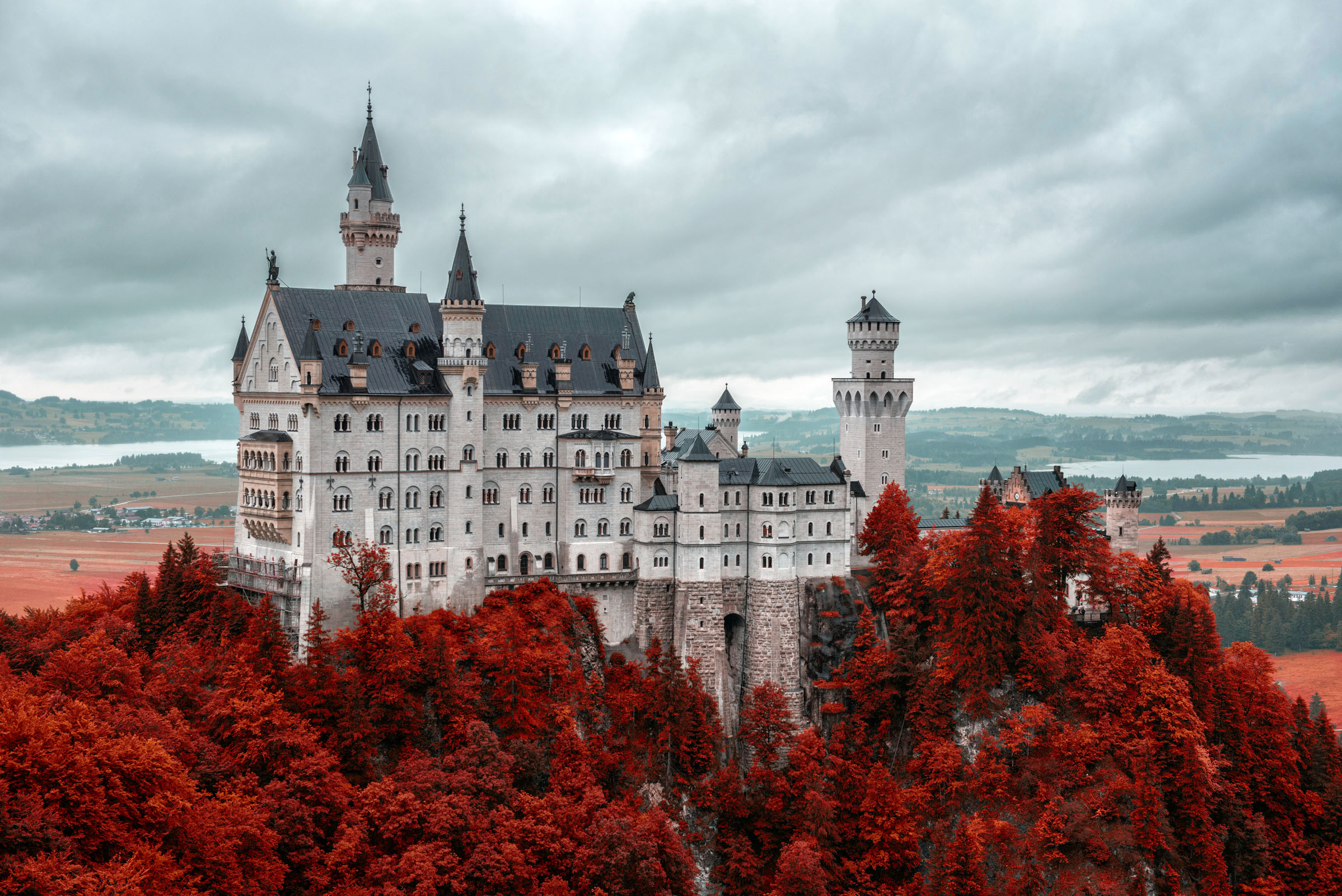 Neuschwanstein Castle in Schwangau, Germany