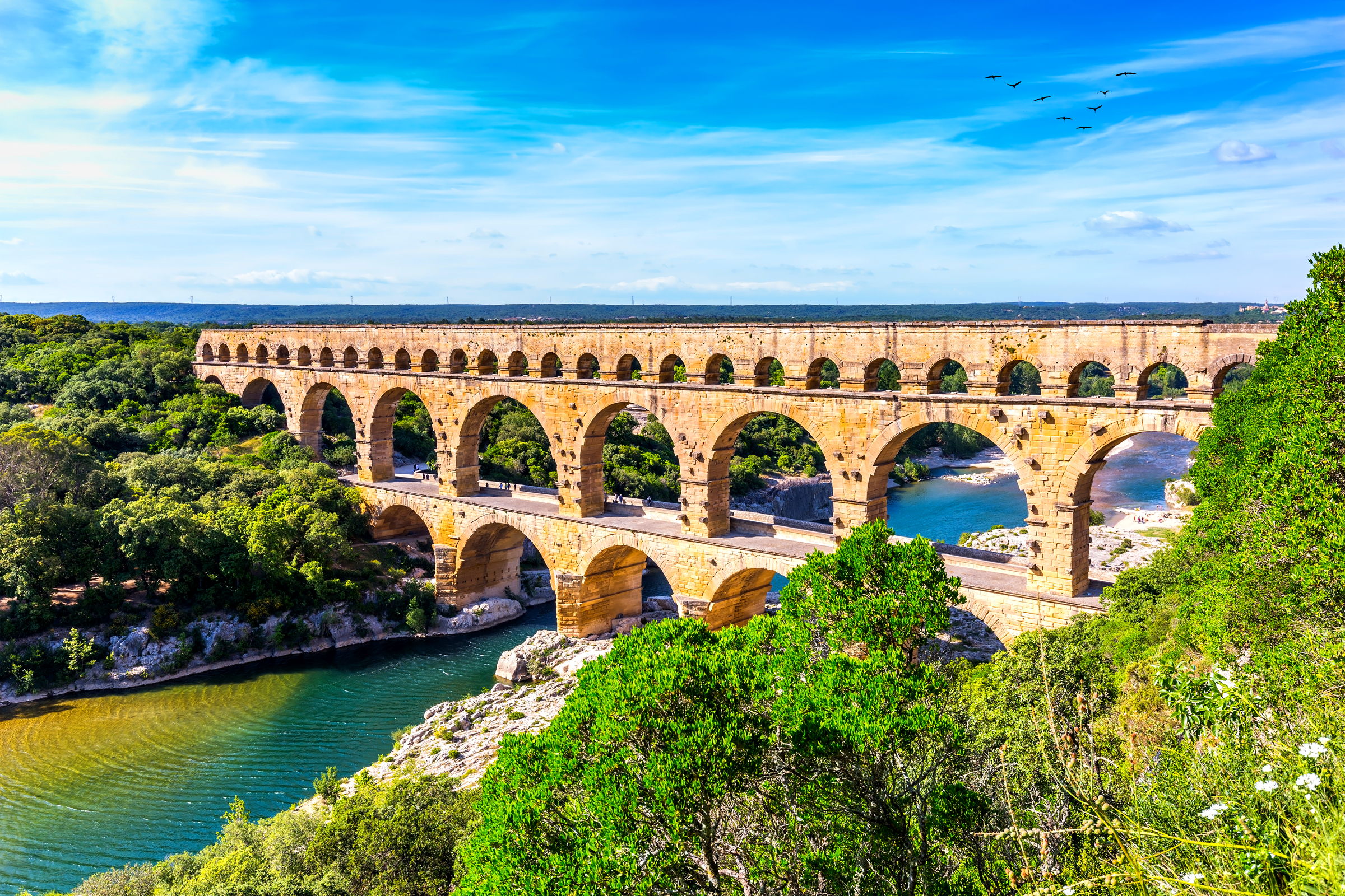 Pont du Gard Aqueduct in Gard, France
