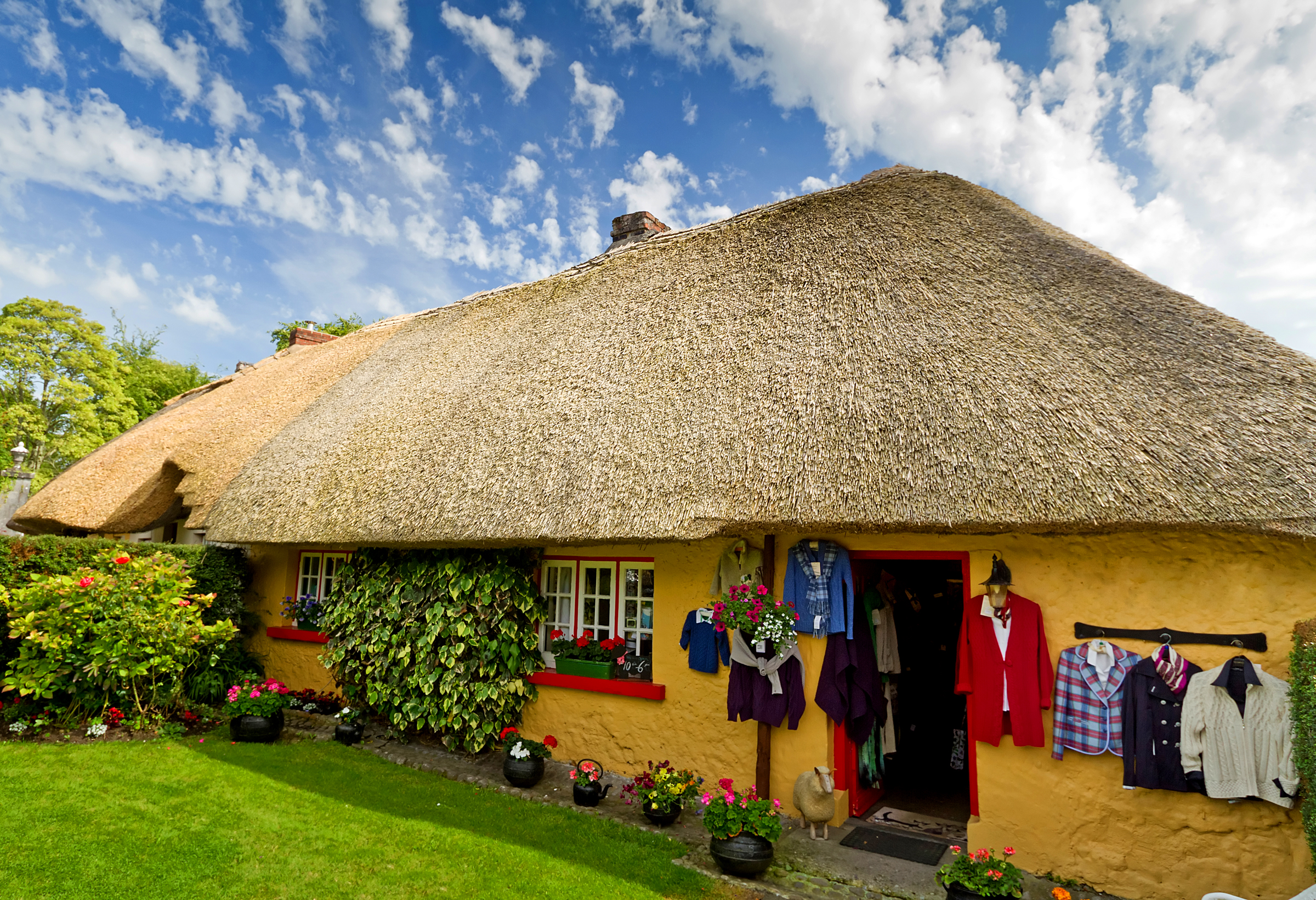 Adare Village in County Limerick, Ireland