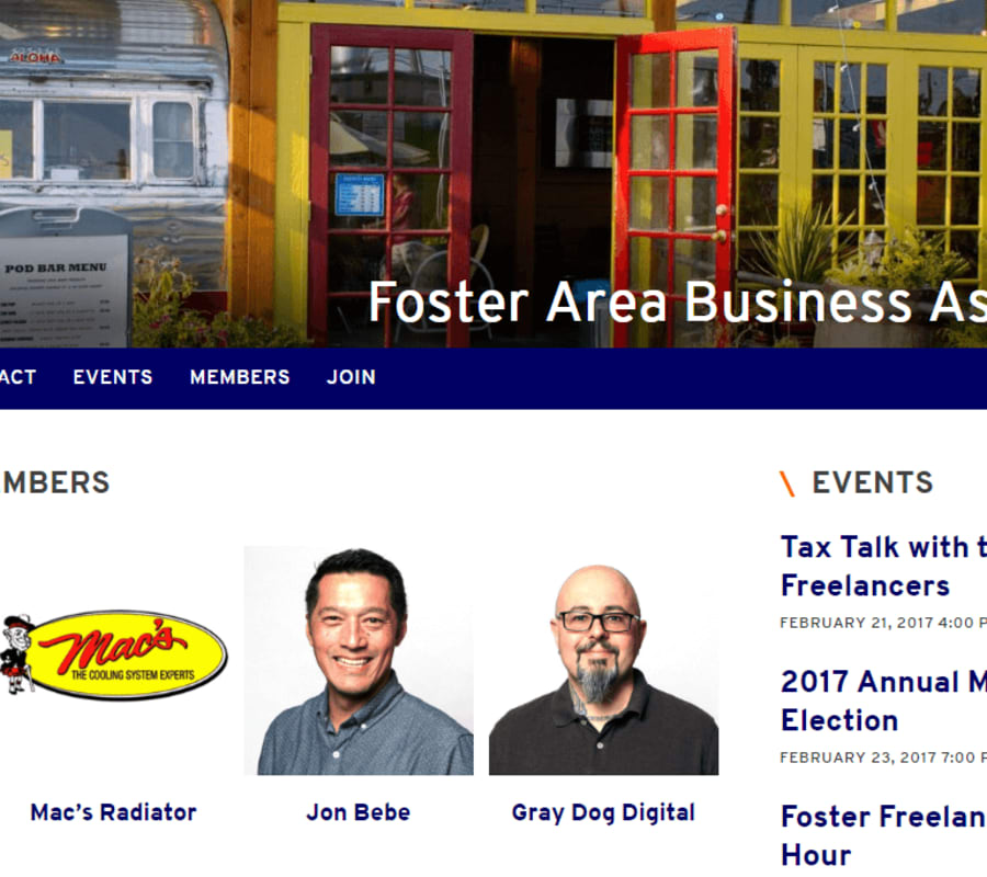 Image of Foster Area Business Association Portal