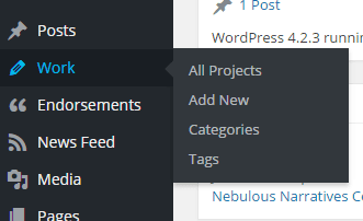 Work section on backend