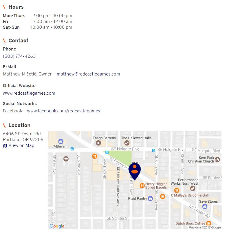 Member location metadata, frontend