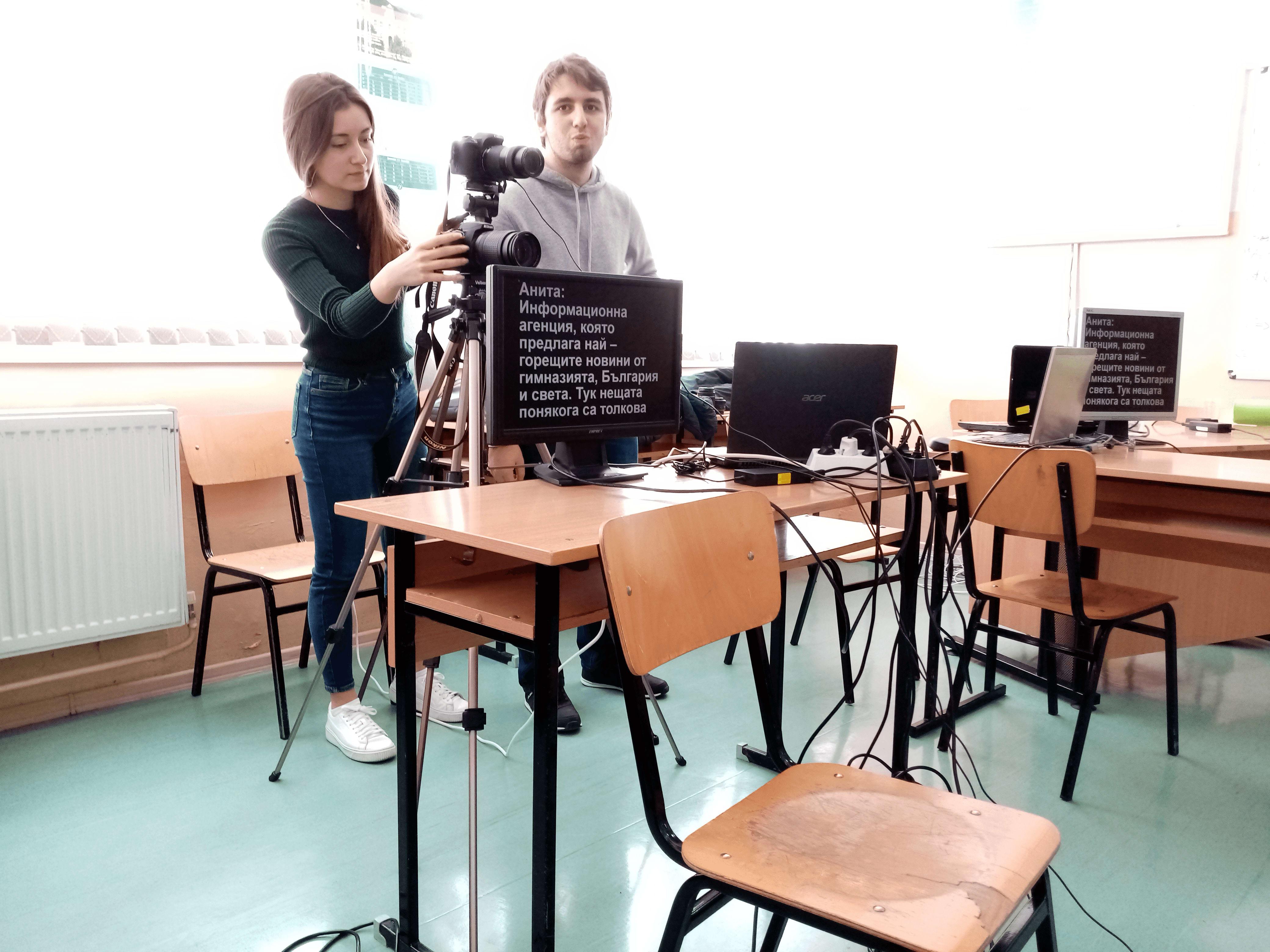 Slide 7 - ППМГ ТВ Сливен - Един ден на снимачната площадка