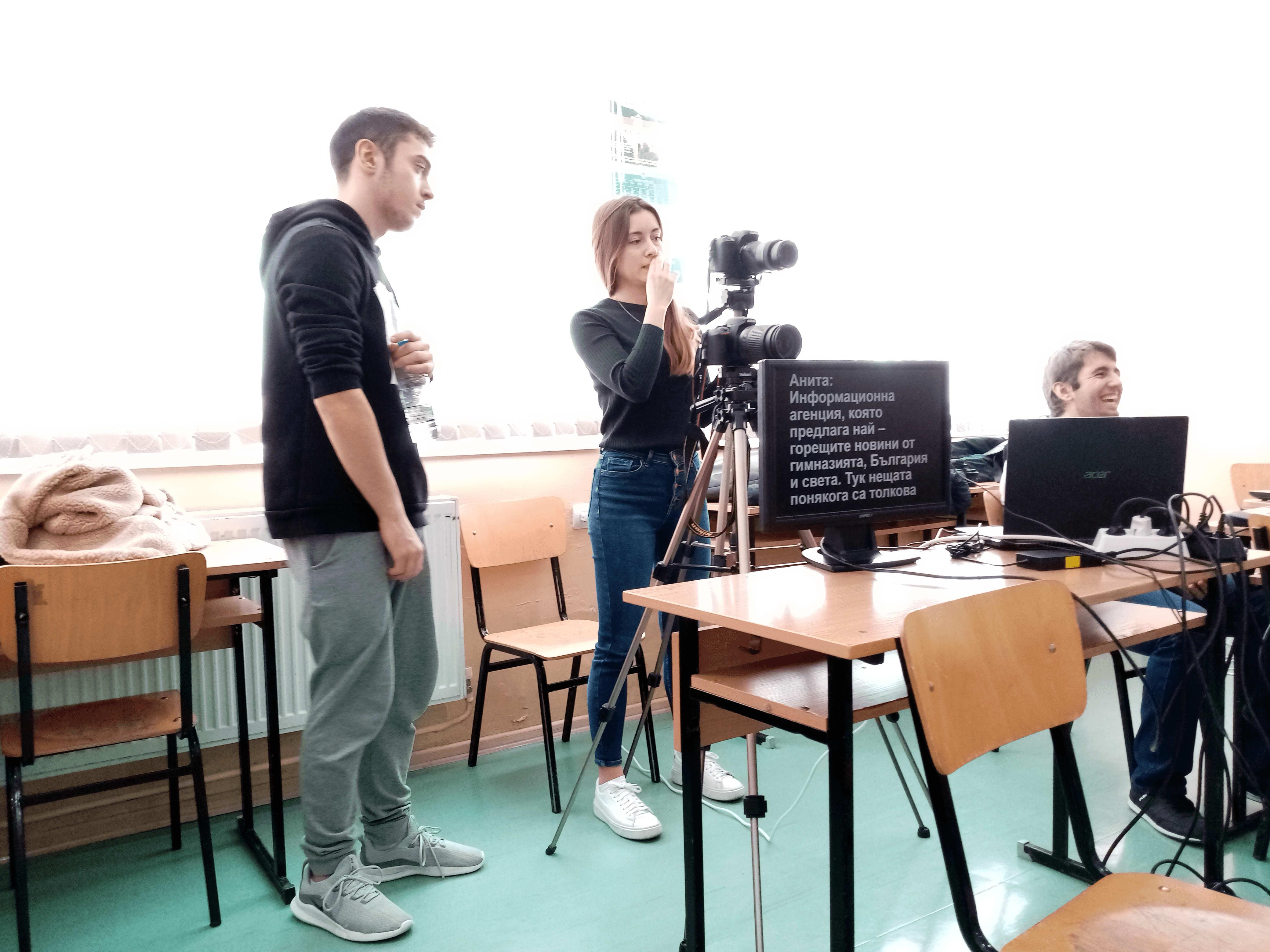 Slide 8 - ППМГ ТВ Сливен - Един ден на снимачната площадка