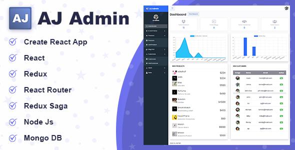 AJ Admin - React Redux Saga Admin Dashboard