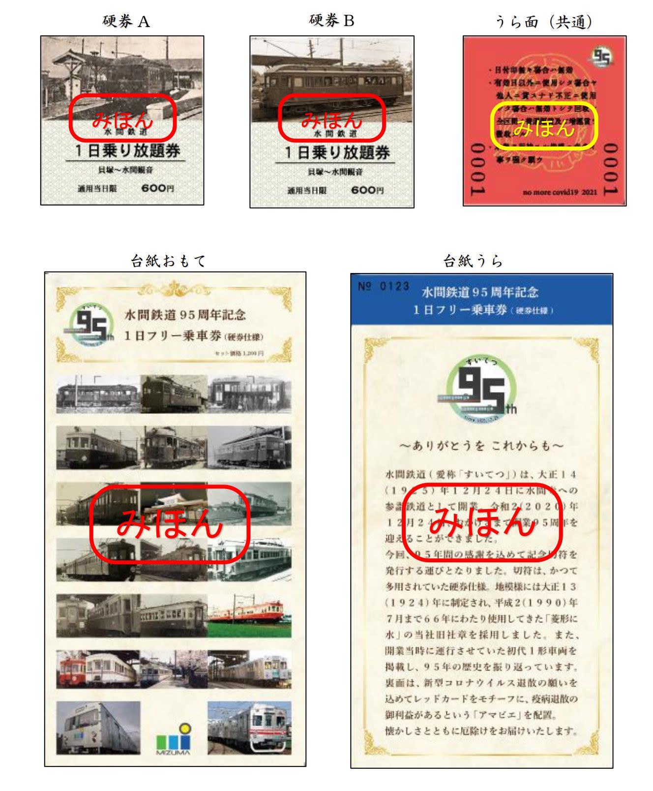 水間鉄道記念切符