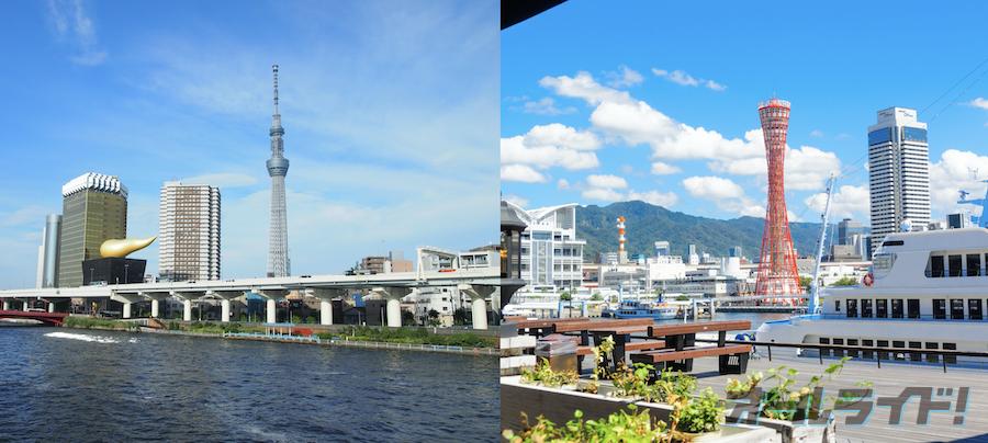 東京から神戸