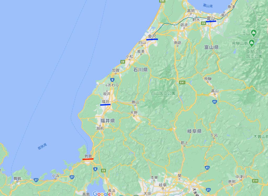 北陸地方地図
