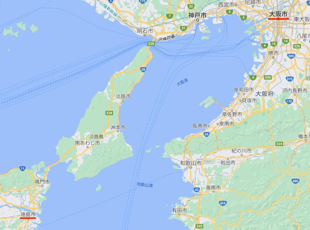 大阪から徳島