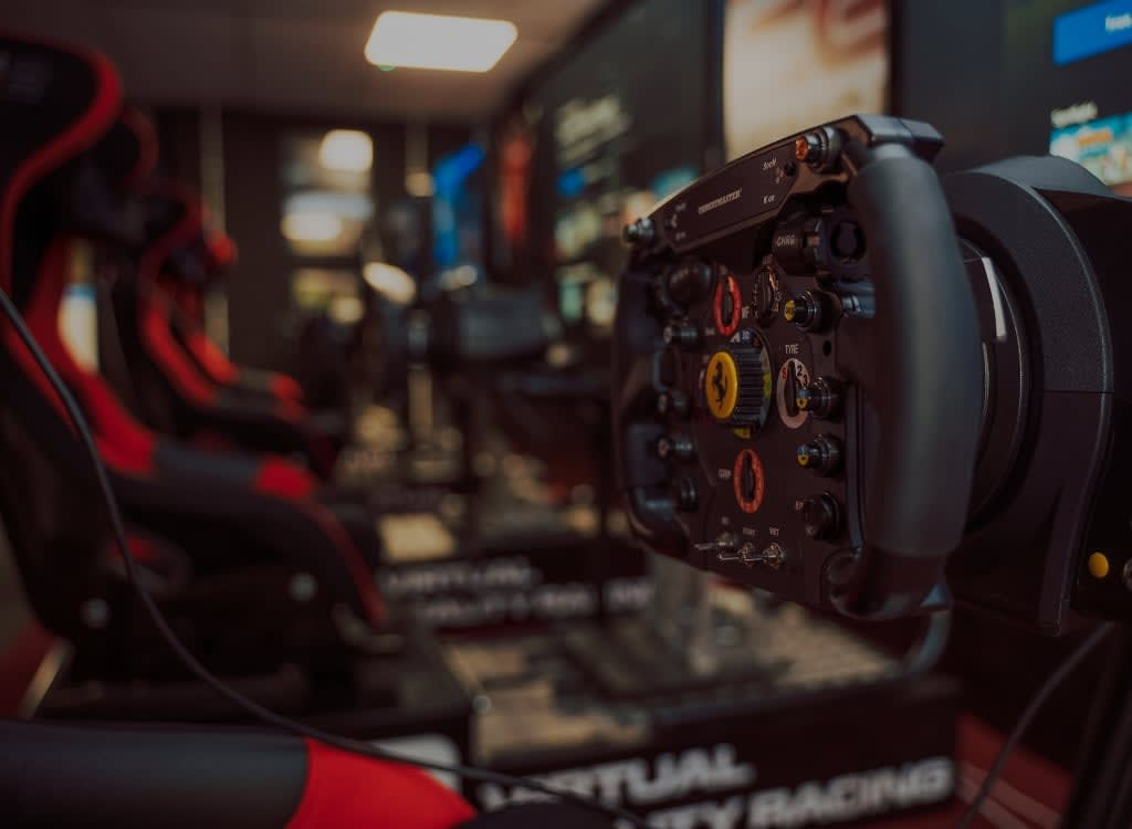 <h2> Realistic Race Experience</h2> <p> If high-speed action is your thing, then hot-foot it to our state-of-the-art Virtual Reality Racing Simulators</p>