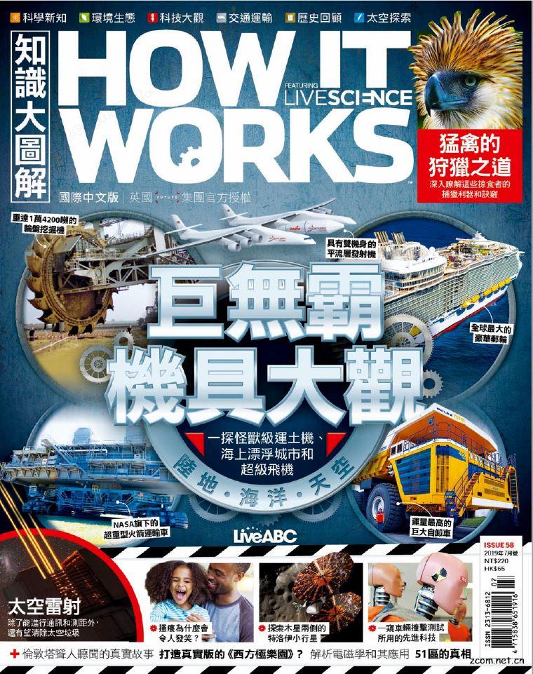 HOW IT WORKS知識大圖解 國際中文版 2019年7月號 第58期:巨無霸機具大觀