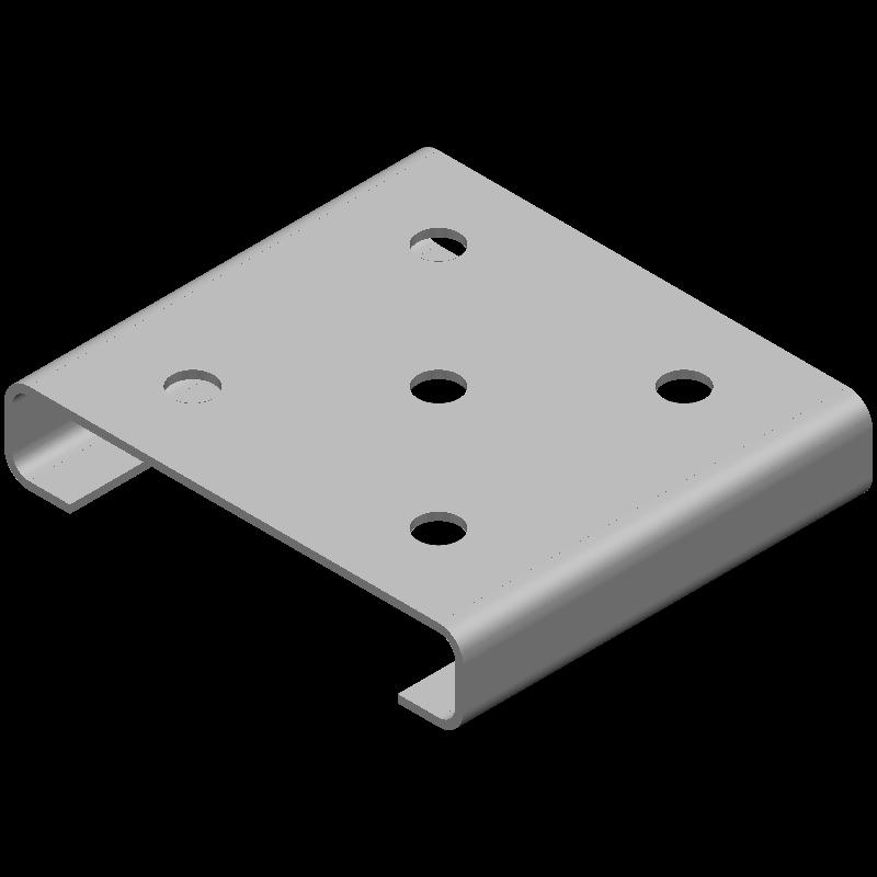 Cチャンネル(同径,5穴)