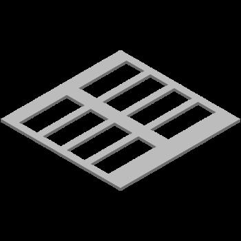 格子型プレート(同径,8穴) (部品ID: 813174132)