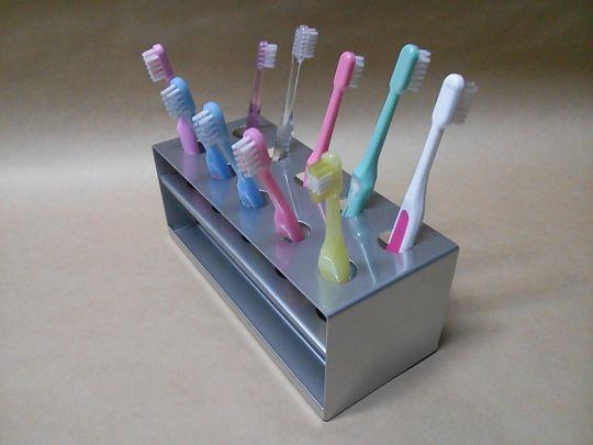 ステンレス製 歯ブラシスタンド(保育園向け)