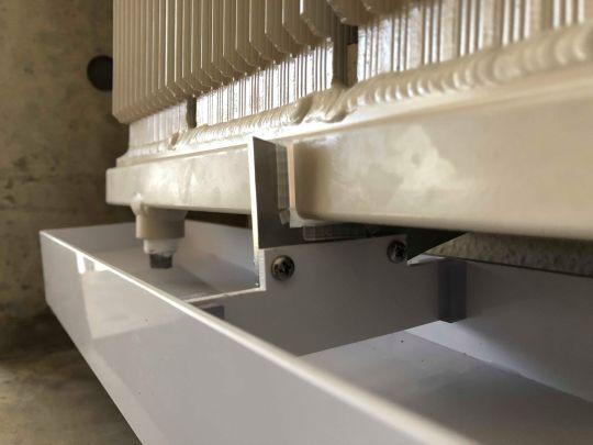 インテリア部材のアルミ溶接+SUS/樹脂部品