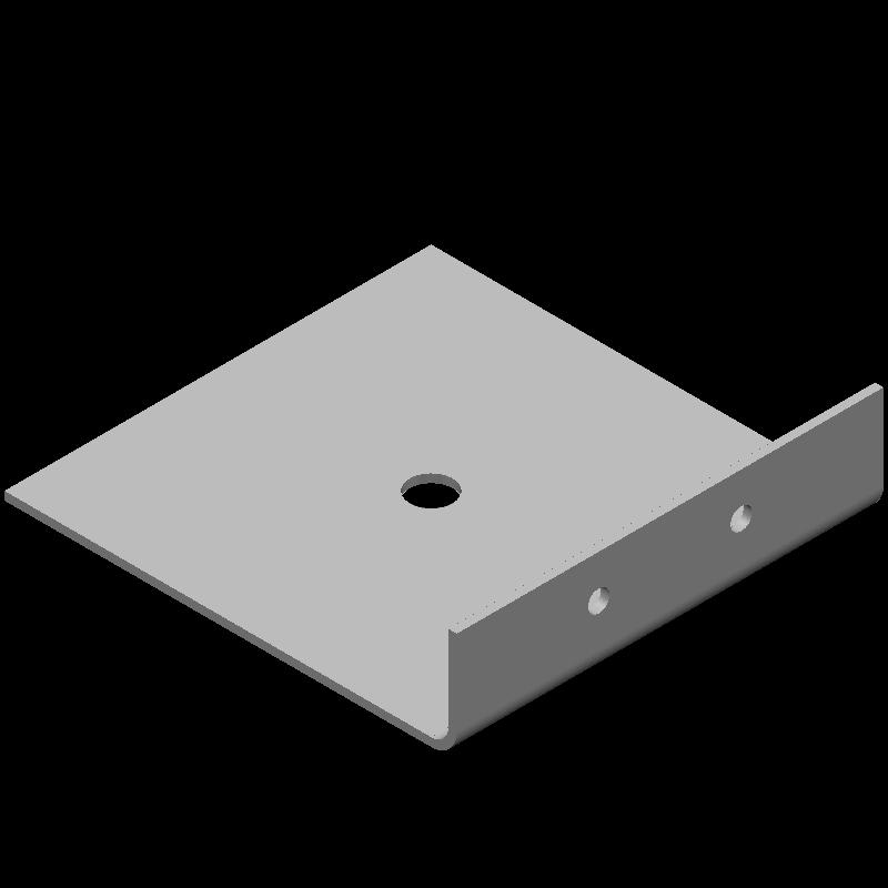 不等辺L字ワイドブラケット(異径,3穴)