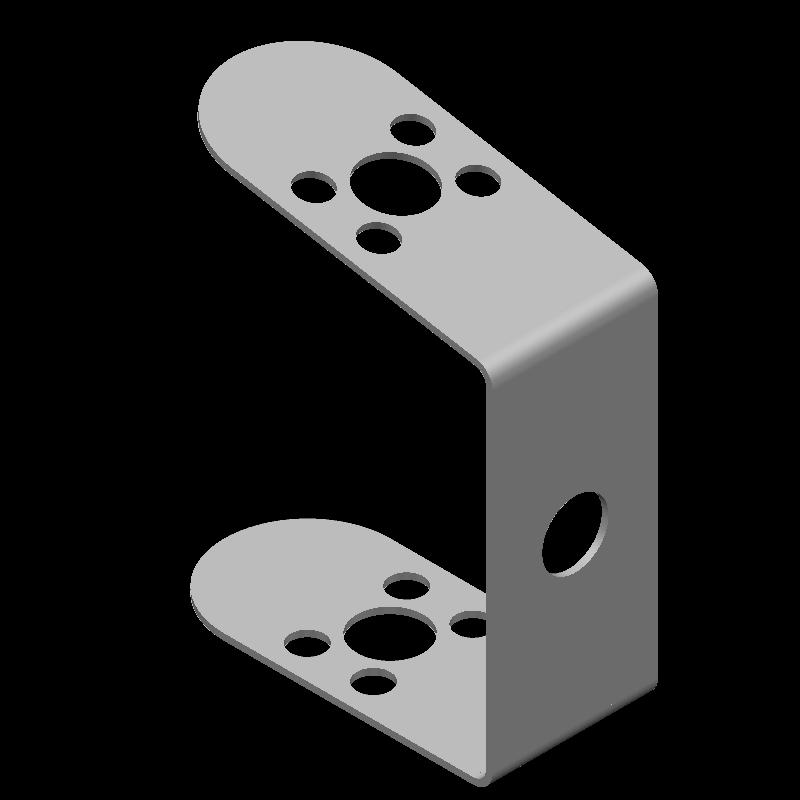 角丸引っ掛け金具(異径,11穴)