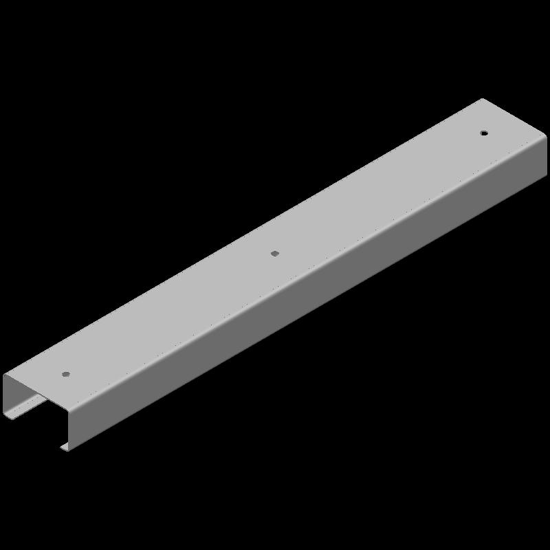 ロングCチャンネル(同径,3穴)