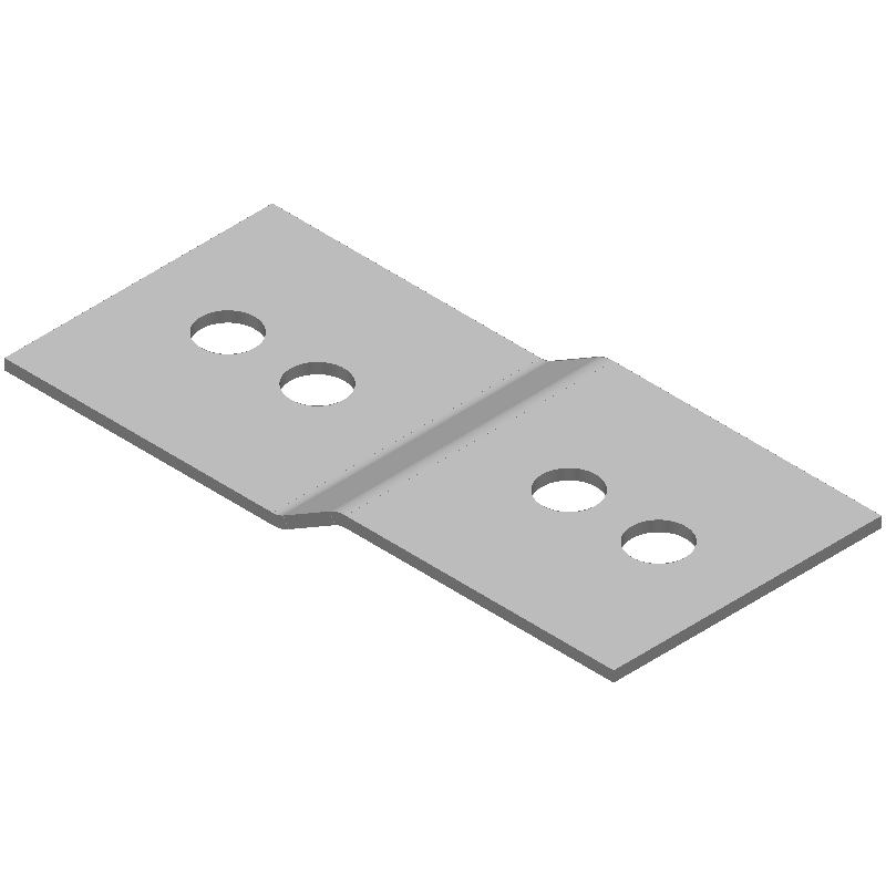 Z字金具(同径,4穴)