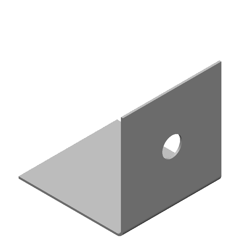 等辺L字ブラケット(1穴)