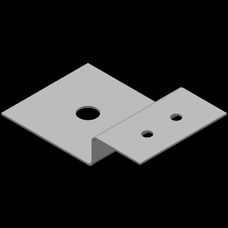Z型金具ロング(異径,3穴)