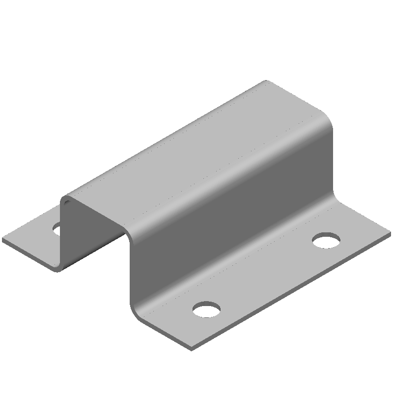 ハット金具(同径,4穴)
