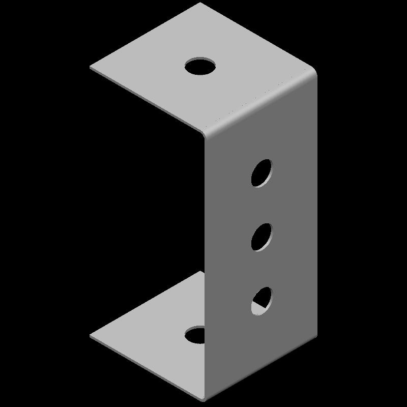 コの字金具(同径,5穴)