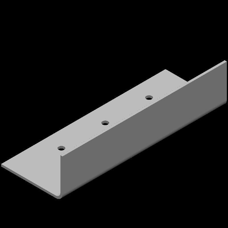 不等辺L字ワイドブラケット(同径,3穴)