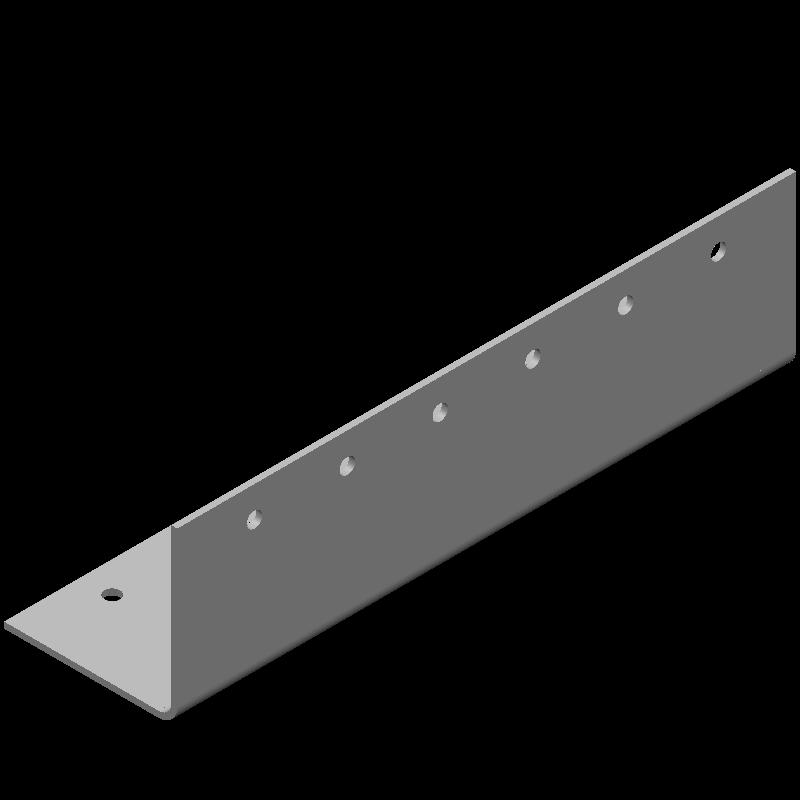 等辺L字ワイドブラケット(同径,12穴)