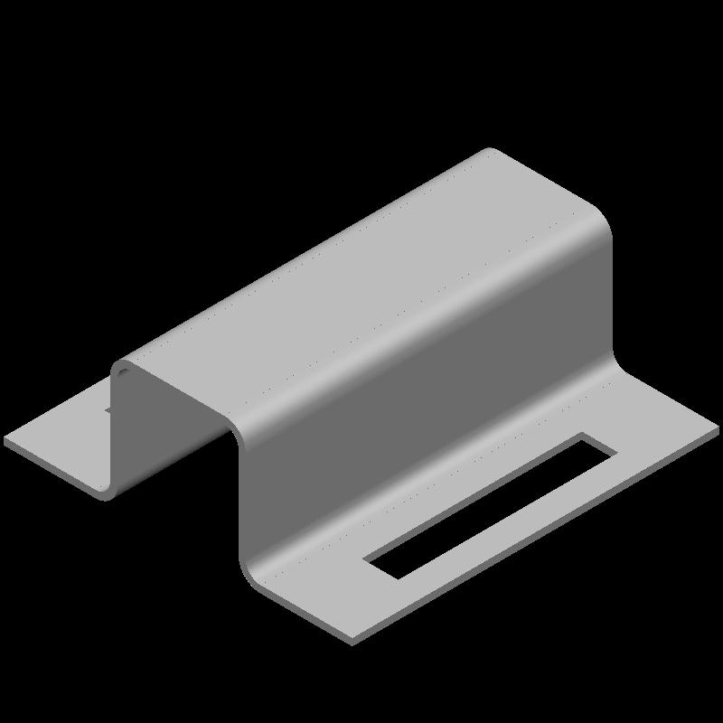 ハット金具(同径,2穴)