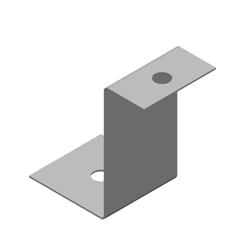 Z字金具(同径,2穴)