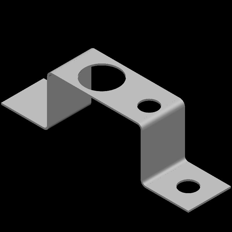 ハット金具(異径,3穴)