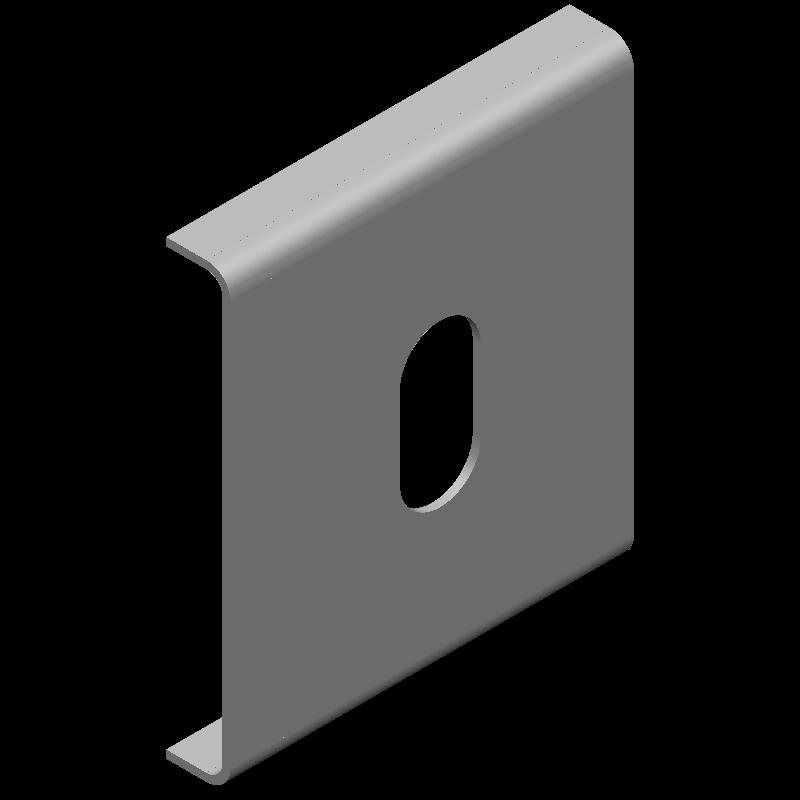 コの字金具(1穴)